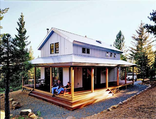 Cozy Steel Building Cabin in a Rustic Surrounding
